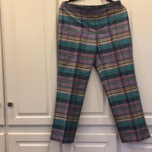 Ralph Lauren silk plaid pants